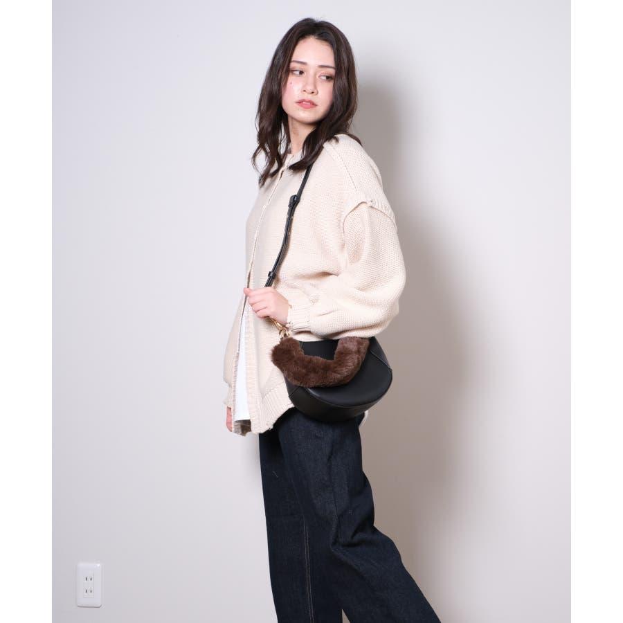 春新作 ファーハンドルバッグ 鞄 5