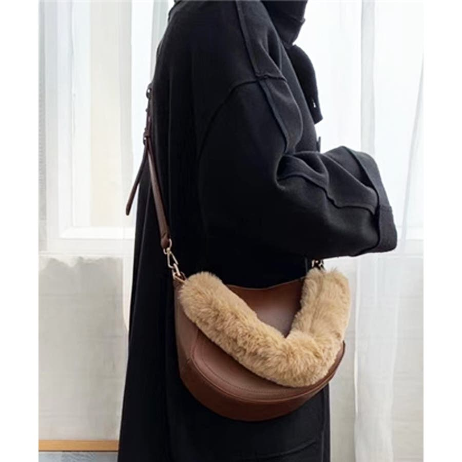 春新作 ファーハンドルバッグ 鞄 29