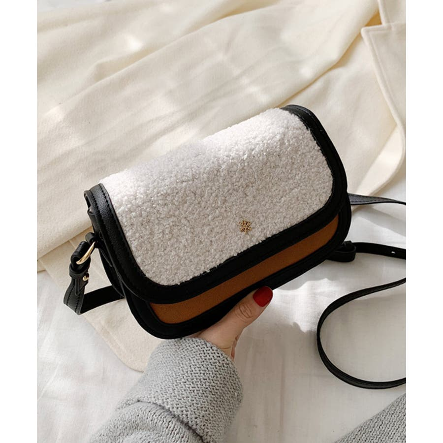 冬新作 ボアミニショルダーバッグ バッグ 鞄 ショルダー ボア ファー エコファー レディース 韓国ファッション 21