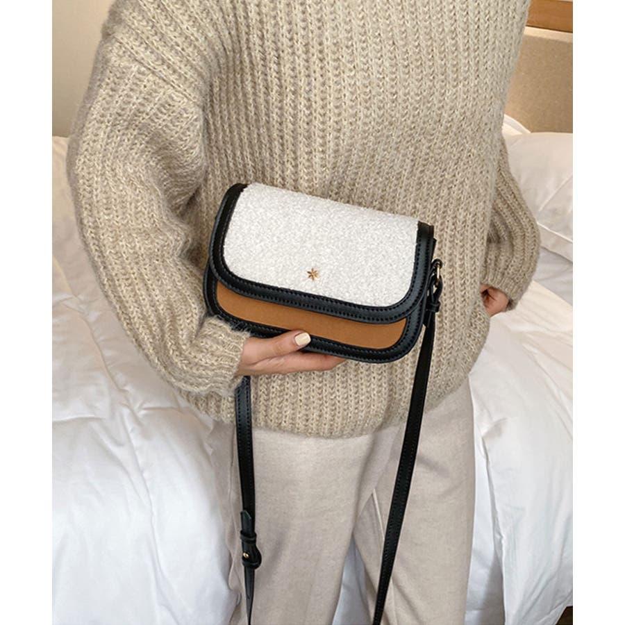 冬新作 ボアミニショルダーバッグ バッグ 鞄 ショルダー ボア ファー エコファー レディース 韓国ファッション 5