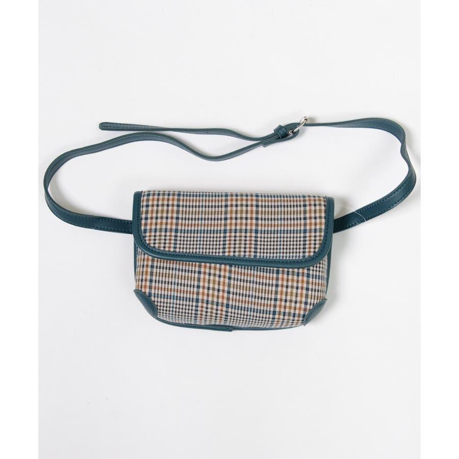 秋新作 グレンチェックマルチバッグ バッグ ショルダー ウエスト サコッシュ グレンチェック コンパクト ミニバッグ 鞄トレンドレディース 韓国ファッション 8