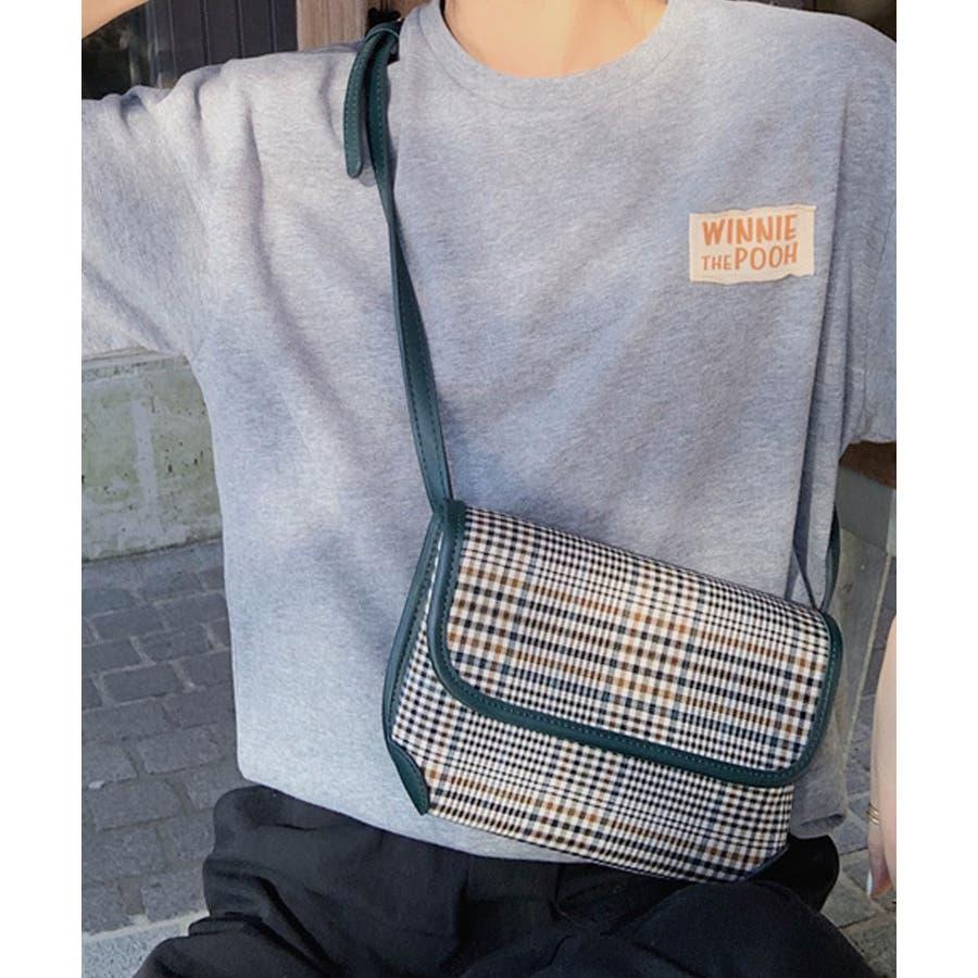 秋新作 グレンチェックマルチバッグ バッグ ショルダー ウエスト サコッシュ グレンチェック コンパクト ミニバッグ 鞄トレンドレディース 韓国ファッション 47