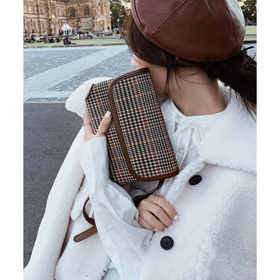 秋新作 グレンチェックマルチバッグ バッグ ショルダー ウエスト サコッシュ グレンチェック コンパクト ミニバッグ 鞄トレンドレディース 韓国ファッション 29