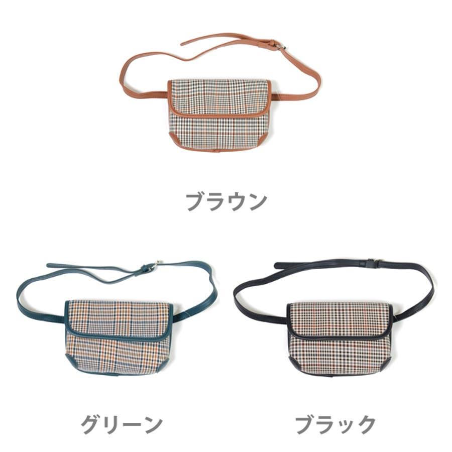 秋新作 グレンチェックマルチバッグ バッグ ショルダー ウエスト サコッシュ グレンチェック コンパクト ミニバッグ 鞄トレンドレディース 韓国ファッション 2