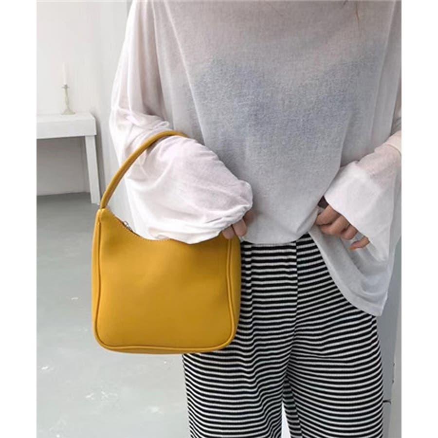 秋新作 ワンハンドルシンプルバッグ バッグ 鞄 ハンド ワンハンドル 上品 シンプル レディース 韓国ファッション 3