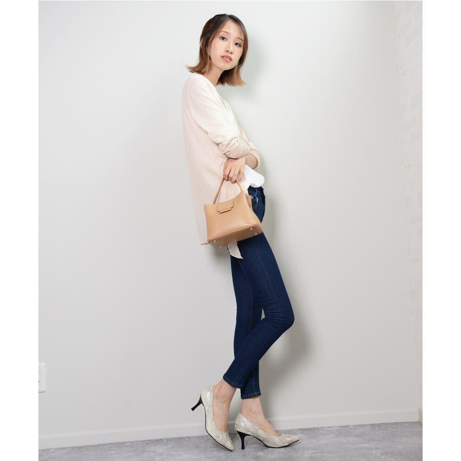 秋新作 レザー調スクエアバッグ バッグ 鞄 ショルダー スクエア ハンド レザー調 シンプル レディース 韓国ファッション 5