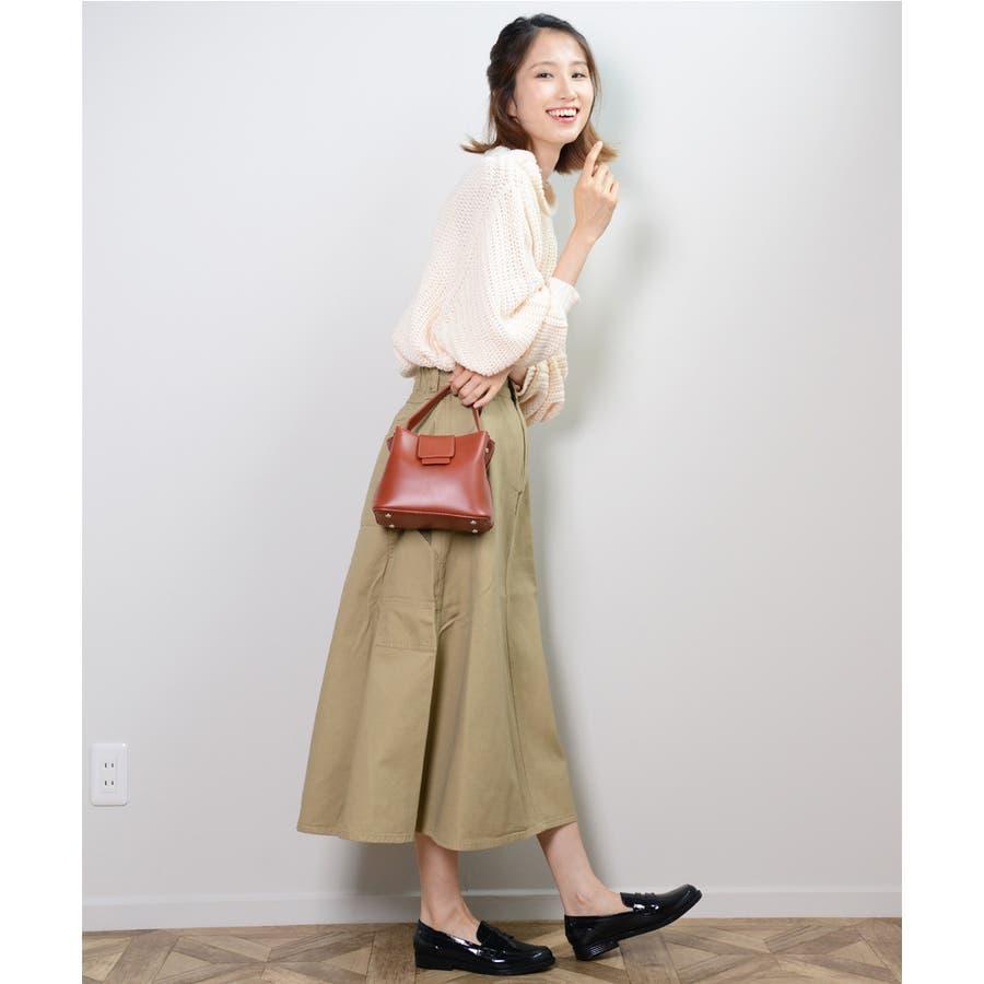 秋新作 レザー調スクエアバッグ バッグ 鞄 ショルダー スクエア ハンド レザー調 シンプル レディース 韓国ファッション 8