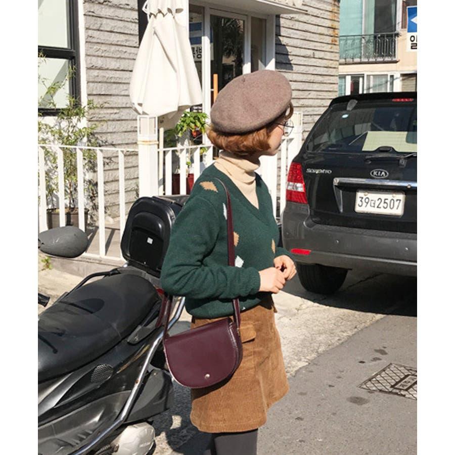 秋新作 フェイクレザーラウンドショルダー バッグ ショルダー ミニバッグ 鞄 ラウンド ゴールド シンプル 上品 カジュアルレディース 韓国ファッション 4