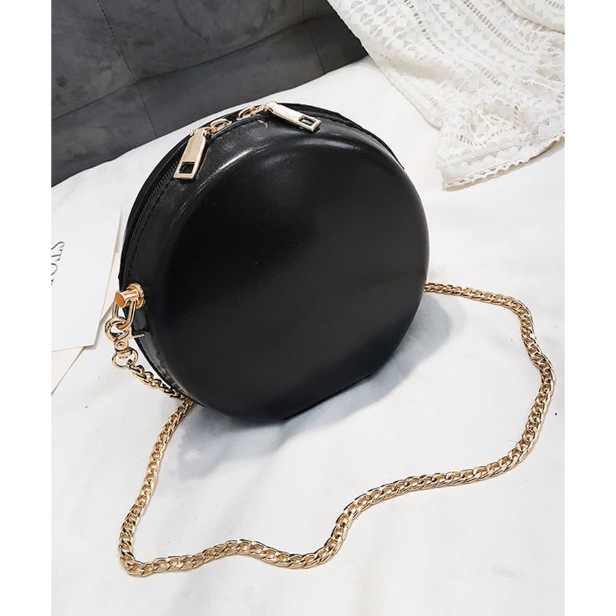 秋新作 サークルチェーンバッグ 鞄 バッグ ショルダー チェーン シンプル コンパクト ミニバッグ 上品 レディース 韓国ファッション 21