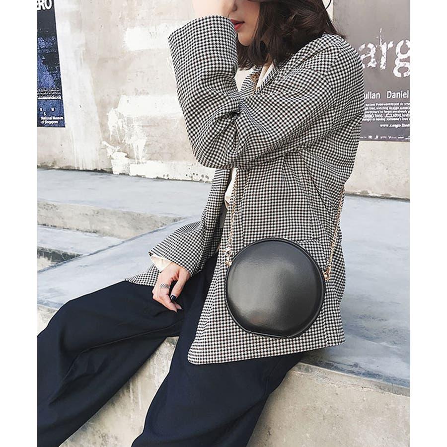 秋新作 サークルチェーンバッグ 鞄 バッグ ショルダー チェーン シンプル コンパクト ミニバッグ 上品 レディース 韓国ファッション 4