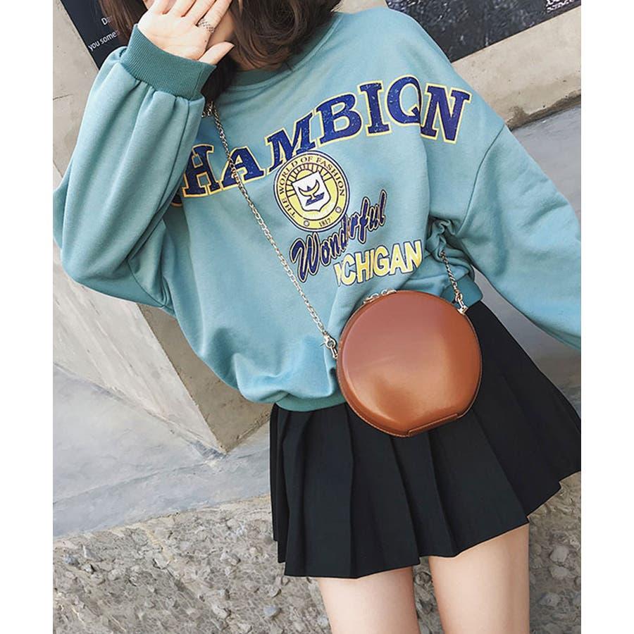 秋新作 サークルチェーンバッグ 鞄 バッグ ショルダー チェーン シンプル コンパクト ミニバッグ 上品 レディース 韓国ファッション 6