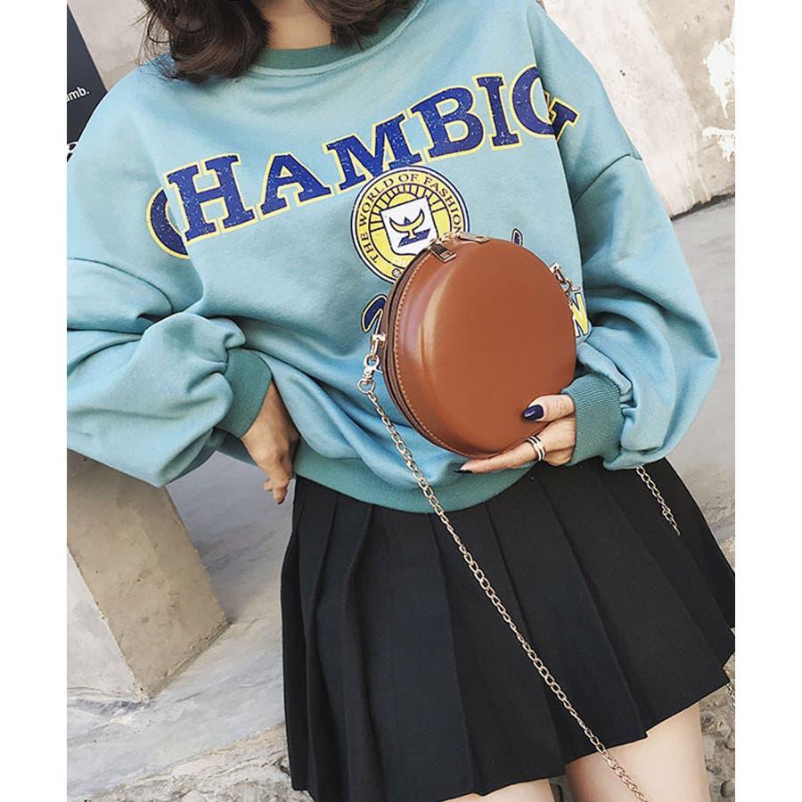秋新作 サークルチェーンバッグ 鞄 バッグ ショルダー チェーン シンプル コンパクト ミニバッグ 上品 レディース 韓国ファッション 7