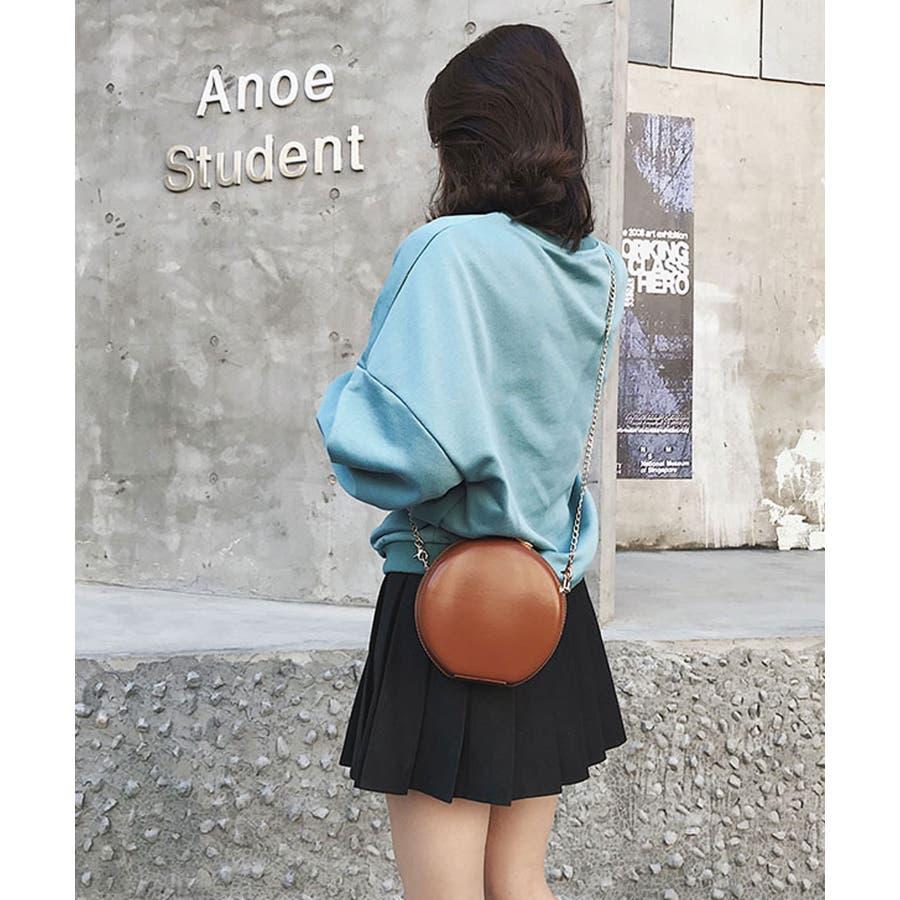 秋新作 サークルチェーンバッグ 鞄 バッグ ショルダー チェーン シンプル コンパクト ミニバッグ 上品 レディース 韓国ファッション 8