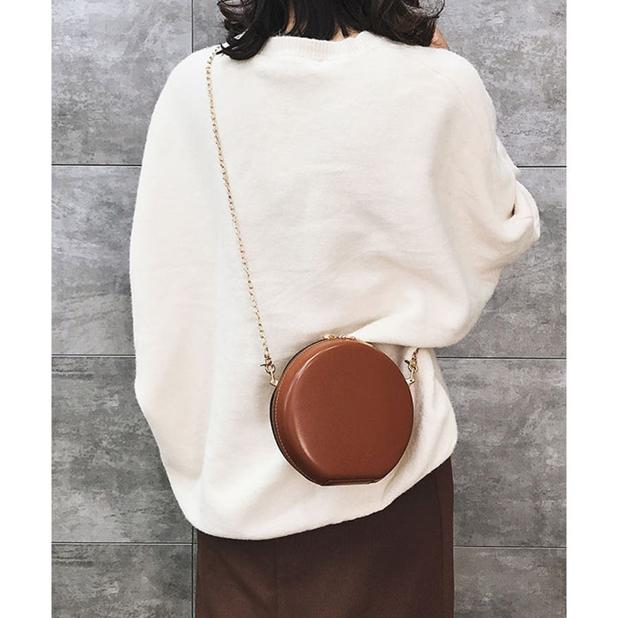 秋新作 サークルチェーンバッグ 鞄 バッグ ショルダー チェーン シンプル コンパクト ミニバッグ 上品 レディース 韓国ファッション 9