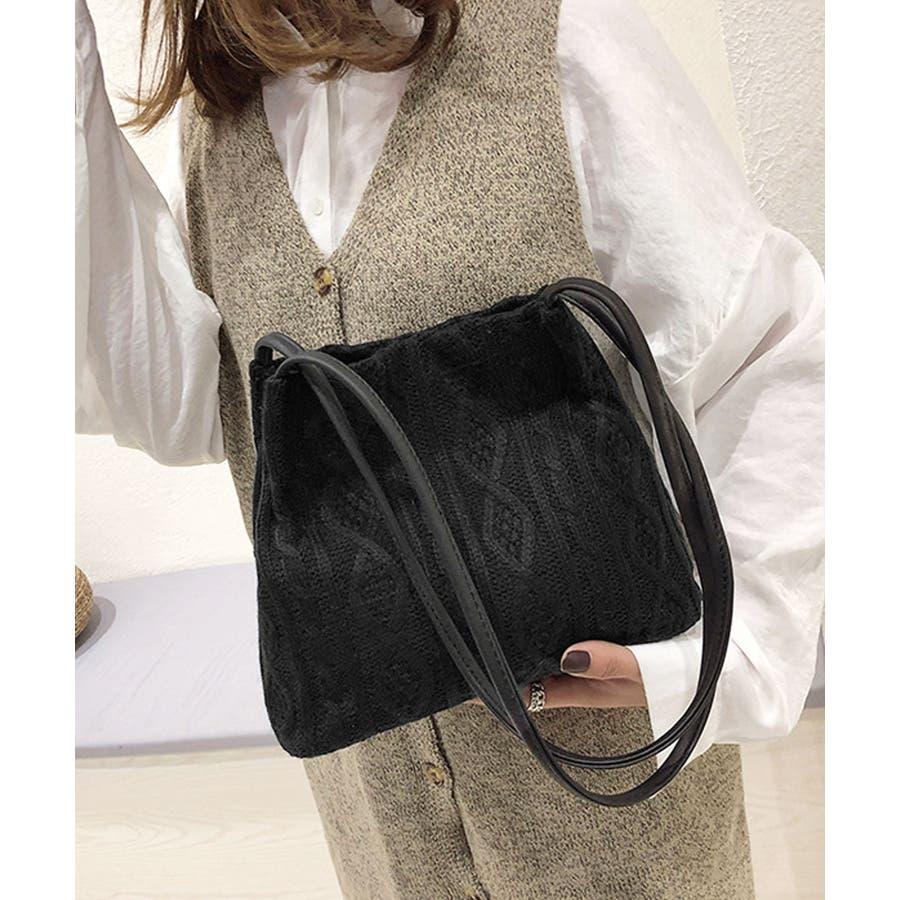 秋新作 ニットショルダーバッグ バッグ ショルダー 鞄 ニット ミニバッグ 上品 大人 シンプル カジュアルレディース韓国ファッション 3
