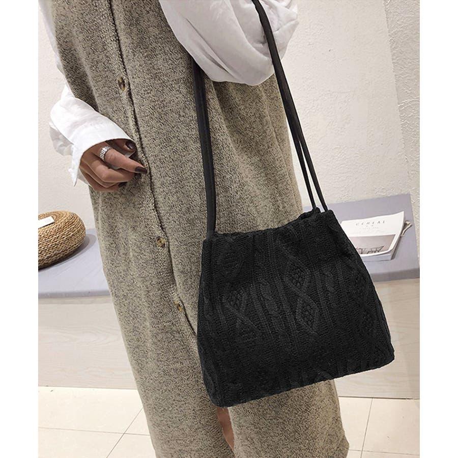 秋新作 ニットショルダーバッグ バッグ ショルダー 鞄 ニット ミニバッグ 上品 大人 シンプル カジュアルレディース韓国ファッション 4