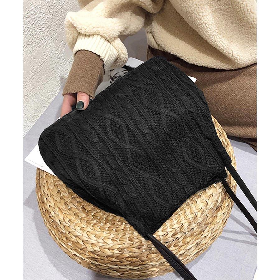 秋新作 ニットショルダーバッグ バッグ ショルダー 鞄 ニット ミニバッグ 上品 大人 シンプル カジュアルレディース韓国ファッション 5