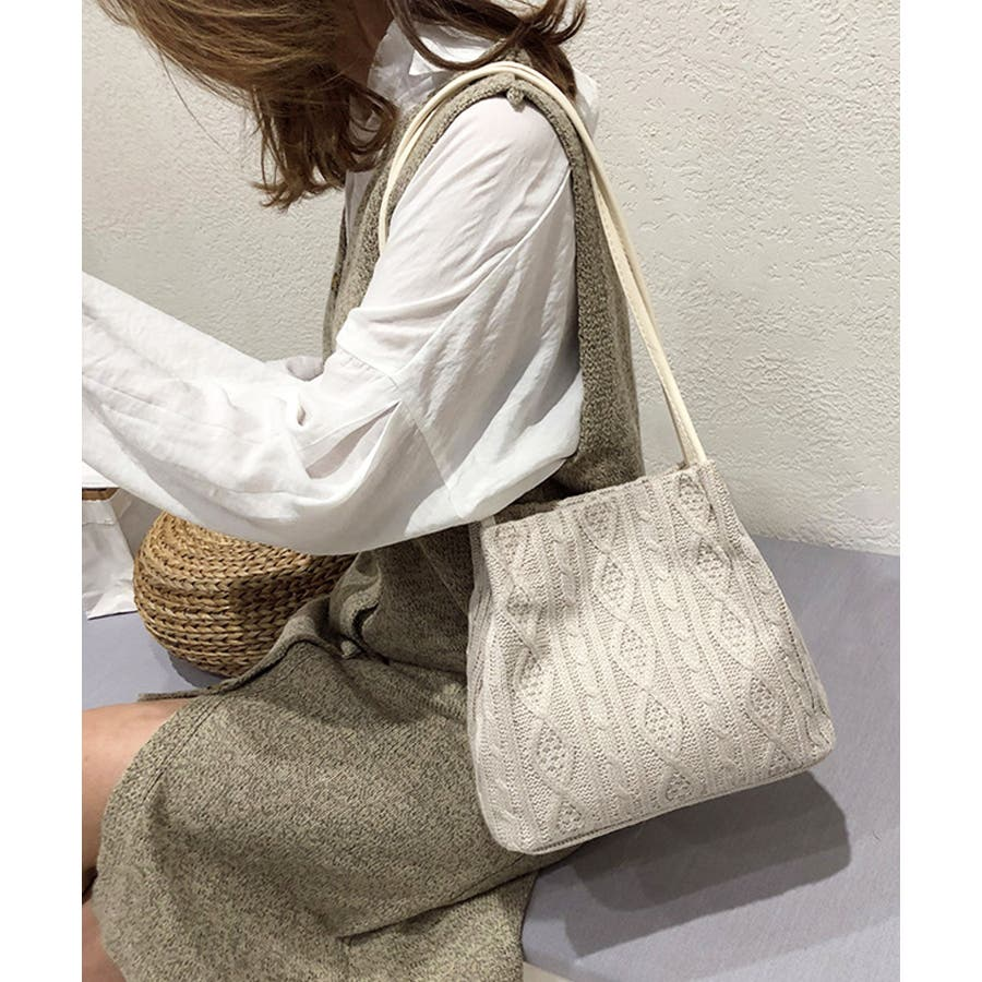 秋新作 ニットショルダーバッグ バッグ ショルダー 鞄 ニット ミニバッグ 上品 大人 シンプル カジュアルレディース韓国ファッション 7