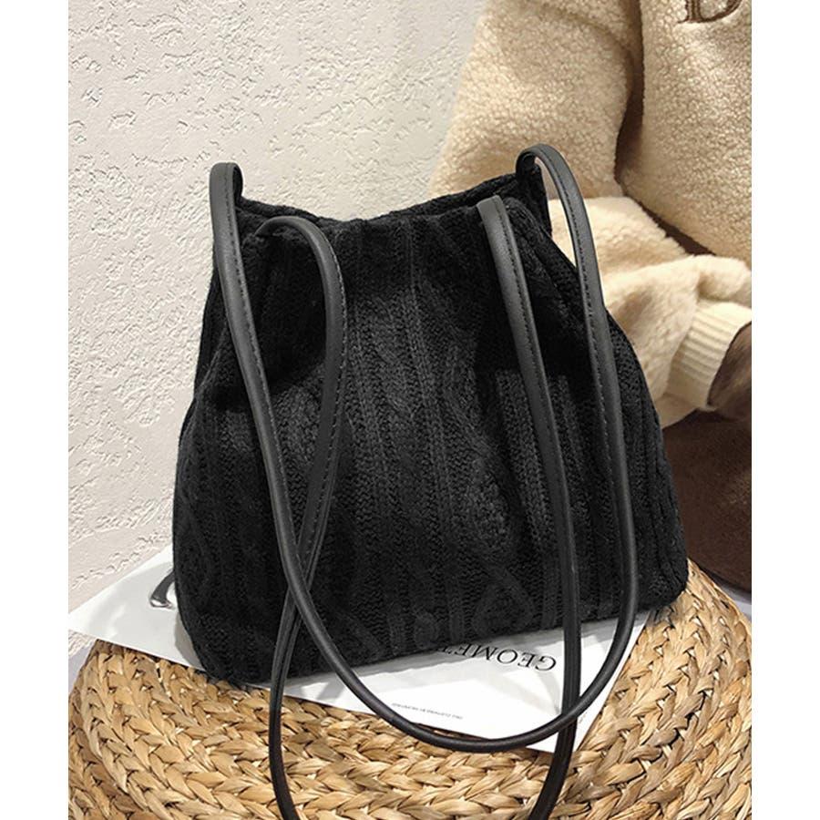 秋新作 ニットショルダーバッグ バッグ ショルダー 鞄 ニット ミニバッグ 上品 大人 シンプル カジュアルレディース韓国ファッション 21