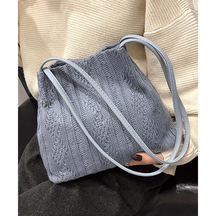 秋新作 ニットショルダーバッグ バッグ ショルダー 鞄 ニット ミニバッグ 上品 大人 シンプル カジュアルレディース韓国ファッション 23