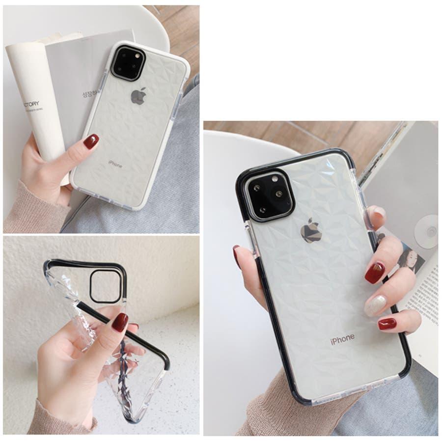 冬新作 クリアスマホケース ma 小物 スマホケース iPhone11 クリア ケース レディース 韓国ファッション 4