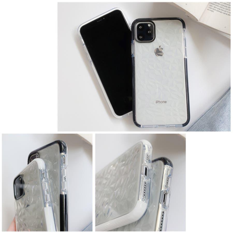 冬新作 クリアスマホケース ma 小物 スマホケース iPhone11 クリア ケース レディース 韓国ファッション 5