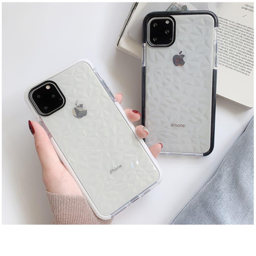 冬新作 クリアスマホケース ma 小物 スマホケース iPhone11 クリア ケース レディース 韓国ファッション 6