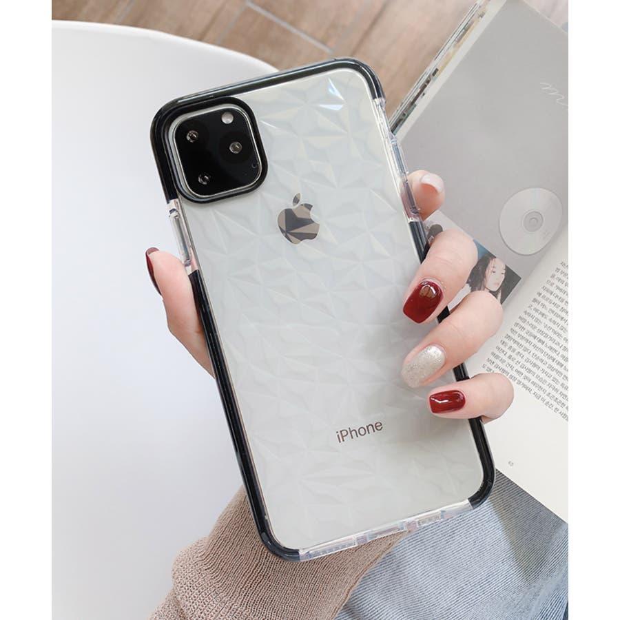 冬新作 クリアスマホケース ma 小物 スマホケース iPhone11 クリア ケース レディース 韓国ファッション 21