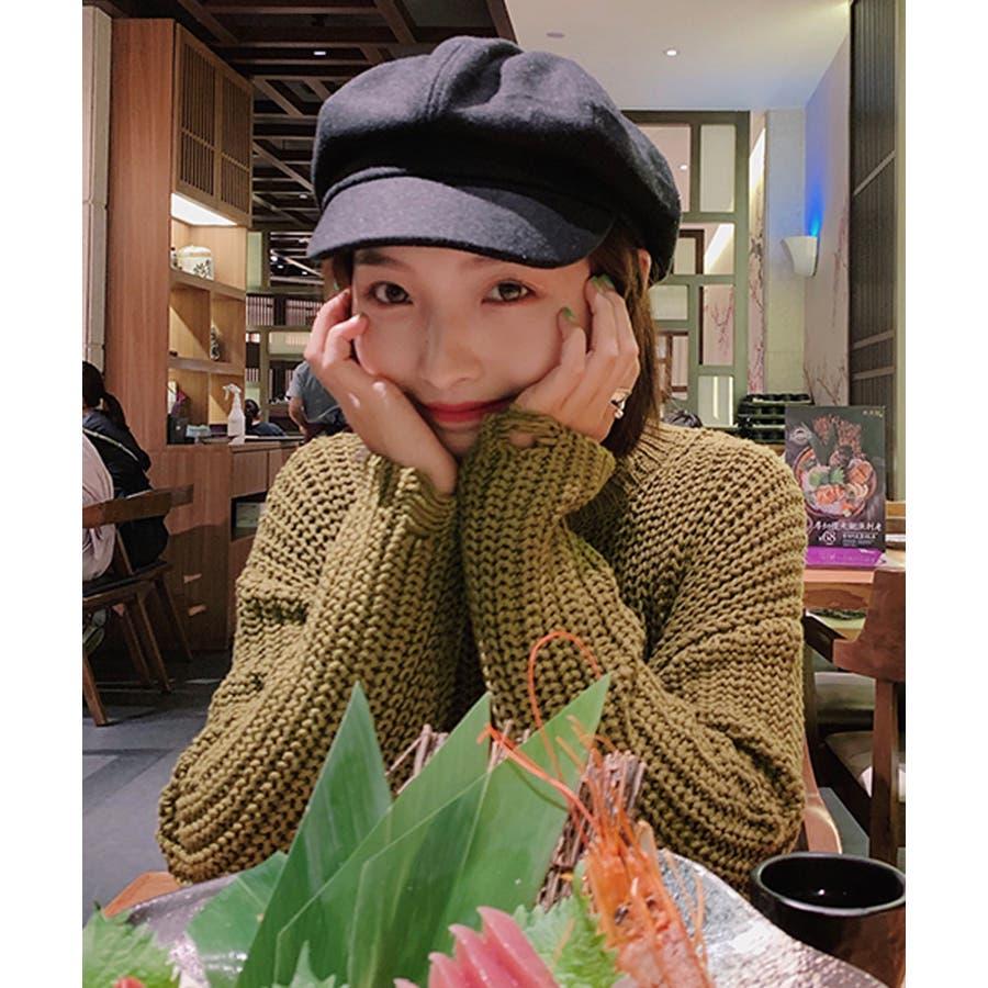 冬新作 キャスケット 帽子 ハット キャスケット カジュアル フェミニン シンプル 上品 レディース 韓国ファッション 7