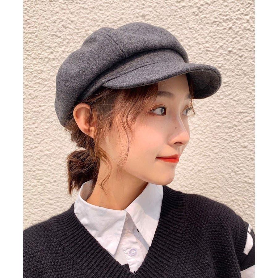 冬新作 キャスケット 帽子 ハット キャスケット カジュアル フェミニン シンプル 上品 レディース 韓国ファッション 25