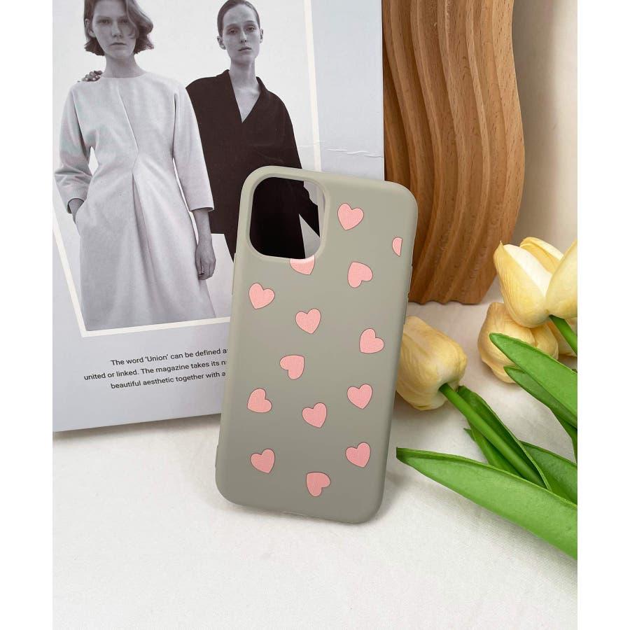 秋新作 ハート柄スマホケース 小物 スマホケース iPhone 7 11 X XS ハート シリコン ソフトレディース韓国ファッション 41
