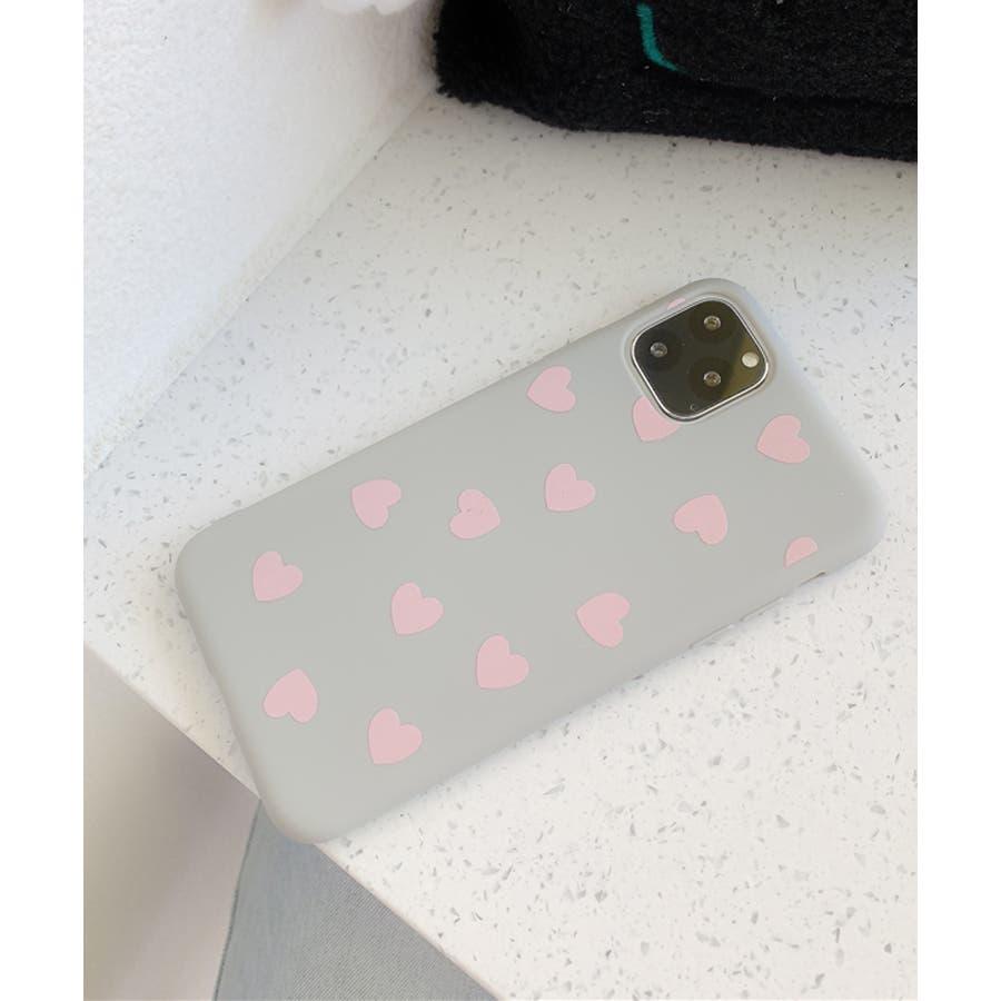 秋新作 ハート柄スマホケース 小物 スマホケース iPhone 7 11 X XS ハート シリコン ソフトレディース韓国ファッション 8