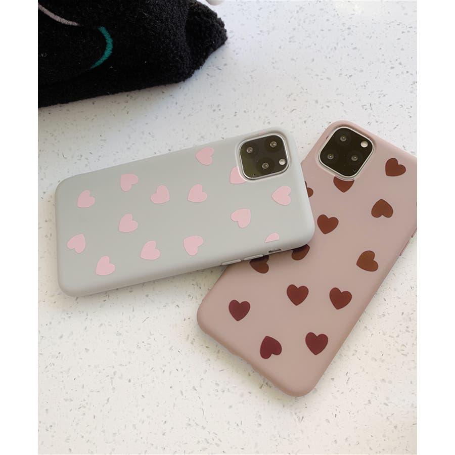 秋新作 ハート柄スマホケース 小物 スマホケース iPhone 7 11 X XS ハート シリコン ソフトレディース韓国ファッション 10