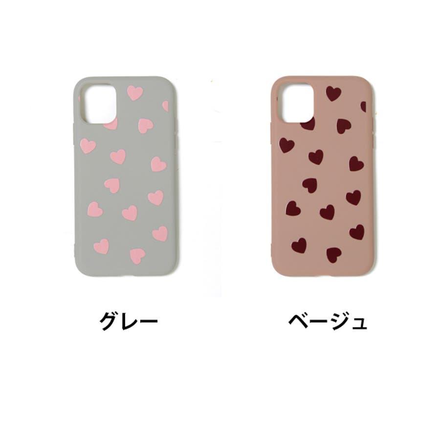 秋新作 ハート柄スマホケース 小物 スマホケース iPhone 7 11 X XS ハート シリコン ソフトレディース韓国ファッション 2