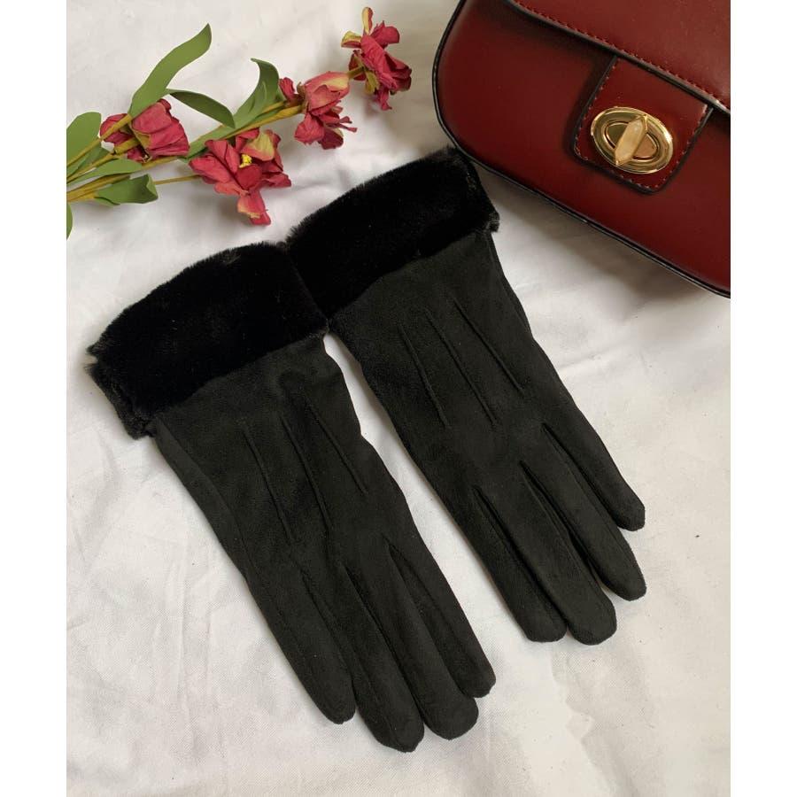 秋新作 ファースエード手袋 手袋 ファー スエード 冬物 コンパクト レディース 韓国ファッション 21
