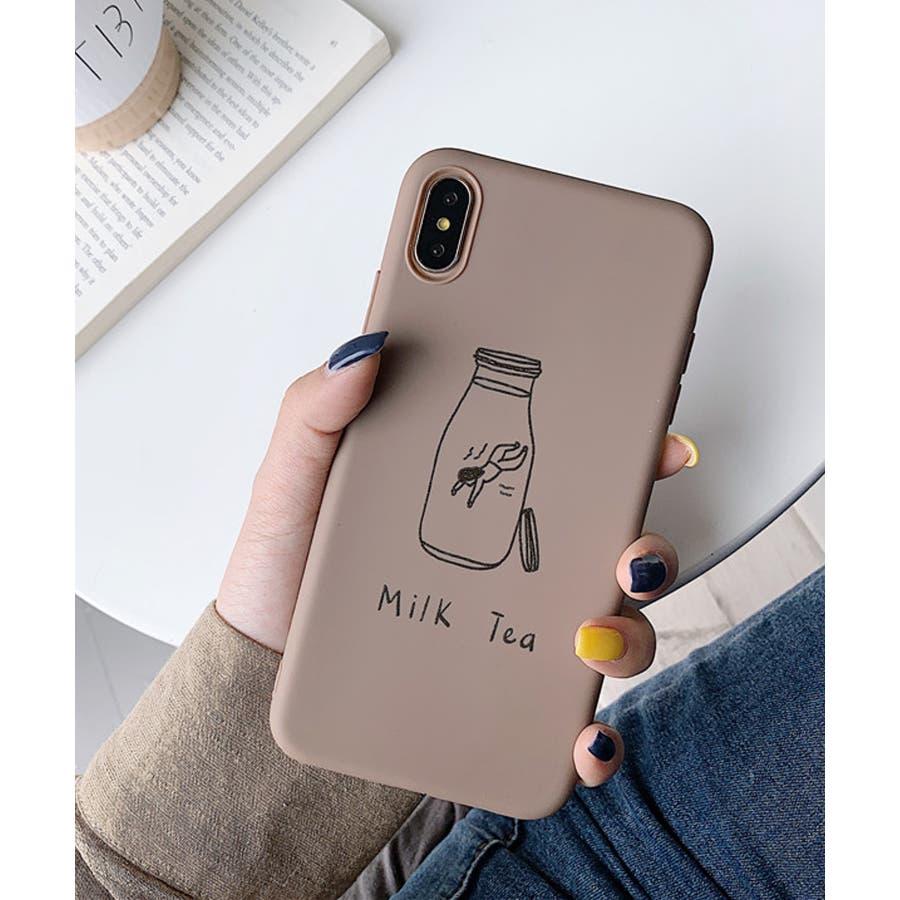 秋新作 シリコンスマホケース 小物 スマホ ケース タピオカ シンプル ベイクドカラー iPhone レディース 韓国ファッション 4