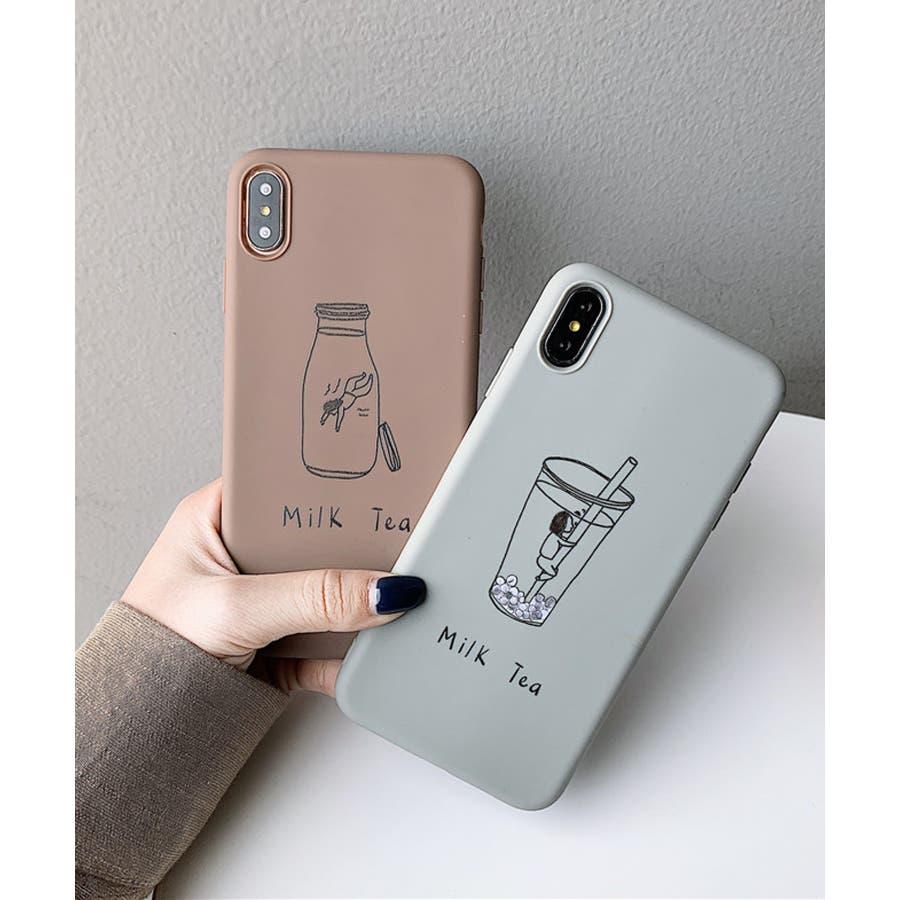 秋新作 シリコンスマホケース 小物 スマホ ケース タピオカ シンプル ベイクドカラー iPhone レディース 韓国ファッション 8