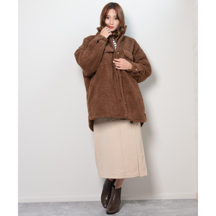 冬新作 ボアCPOジャケット アウター コート CPO ジャケット ボア もこもこ オーバーサイズ レディース 韓国ファッション 29