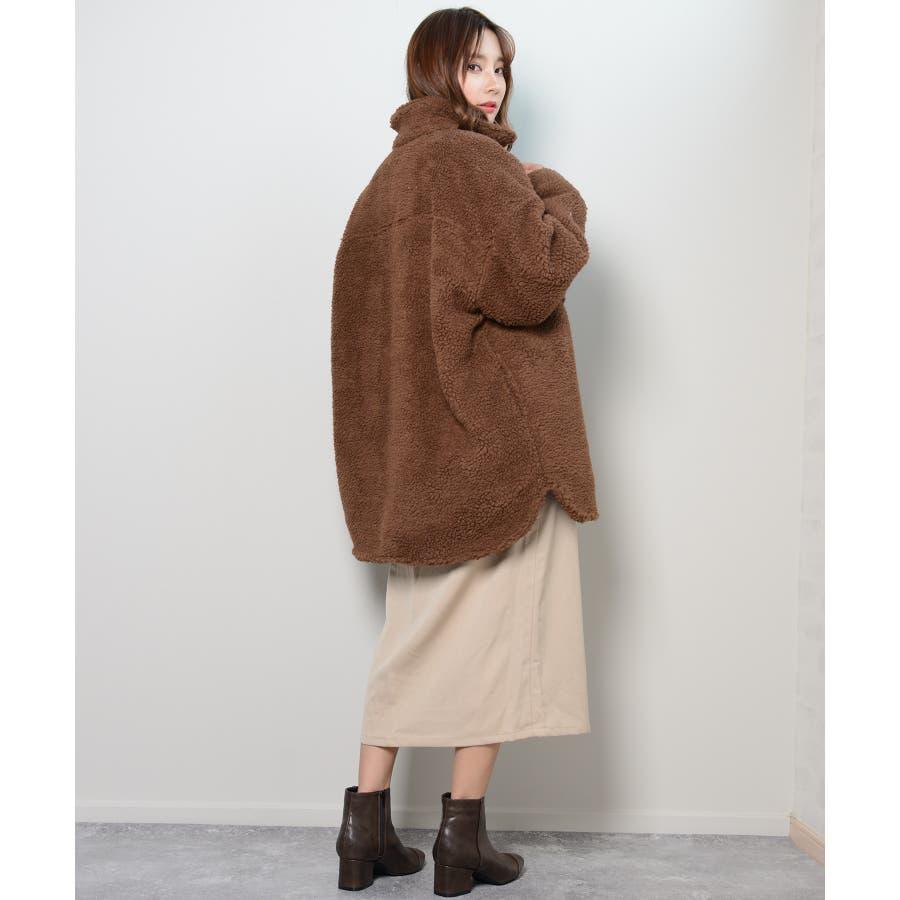 冬新作 ボアCPOジャケット アウター コート CPO ジャケット ボア もこもこ オーバーサイズ レディース 韓国ファッション 7