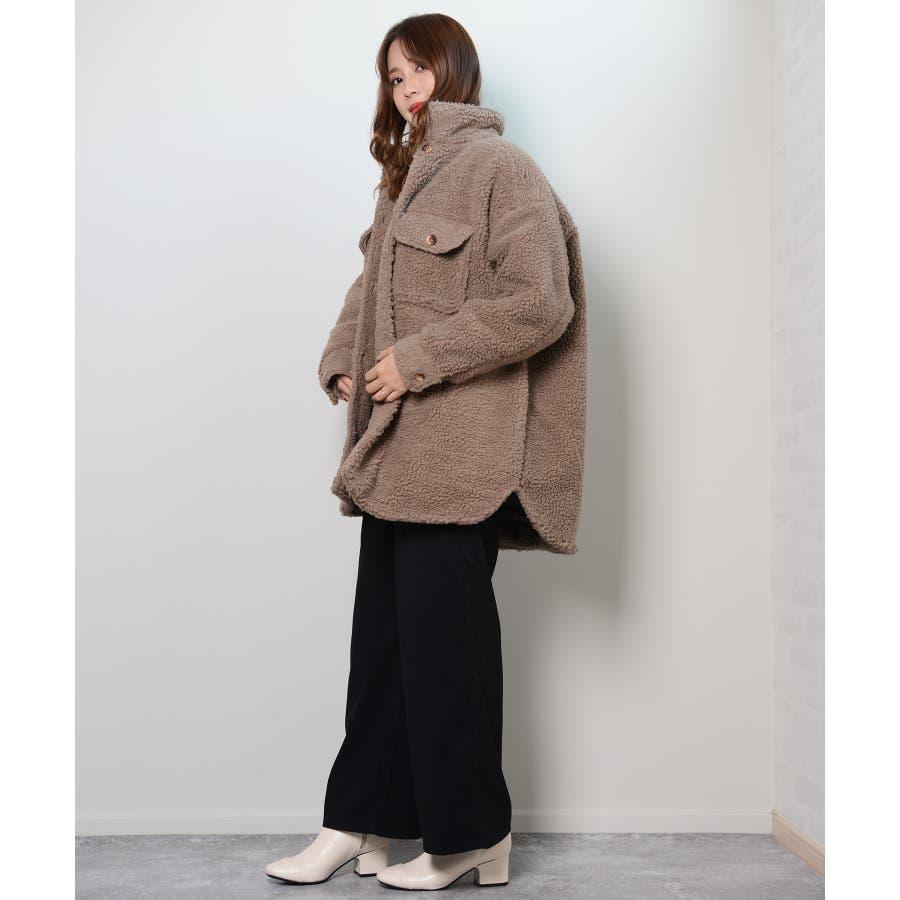 冬新作 ボアCPOジャケット アウター コート CPO ジャケット ボア もこもこ オーバーサイズ レディース 韓国ファッション 110