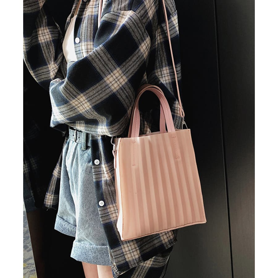 春新作 プリーツバッグ 鞄 5