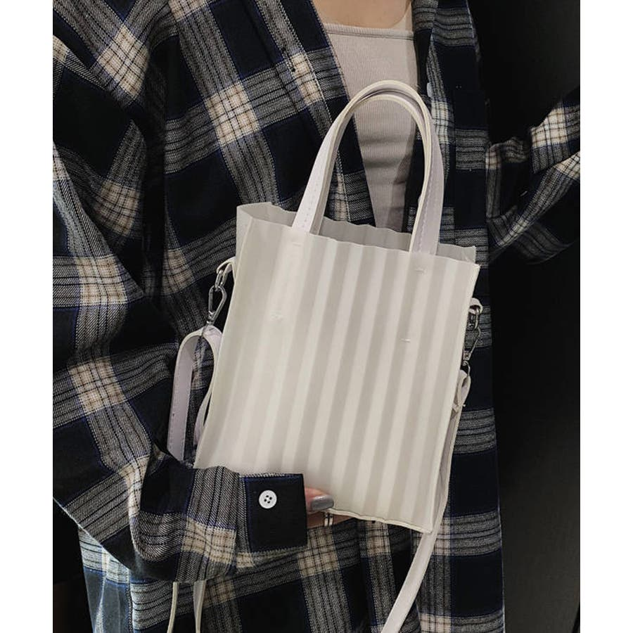 春新作 プリーツバッグ 鞄 16