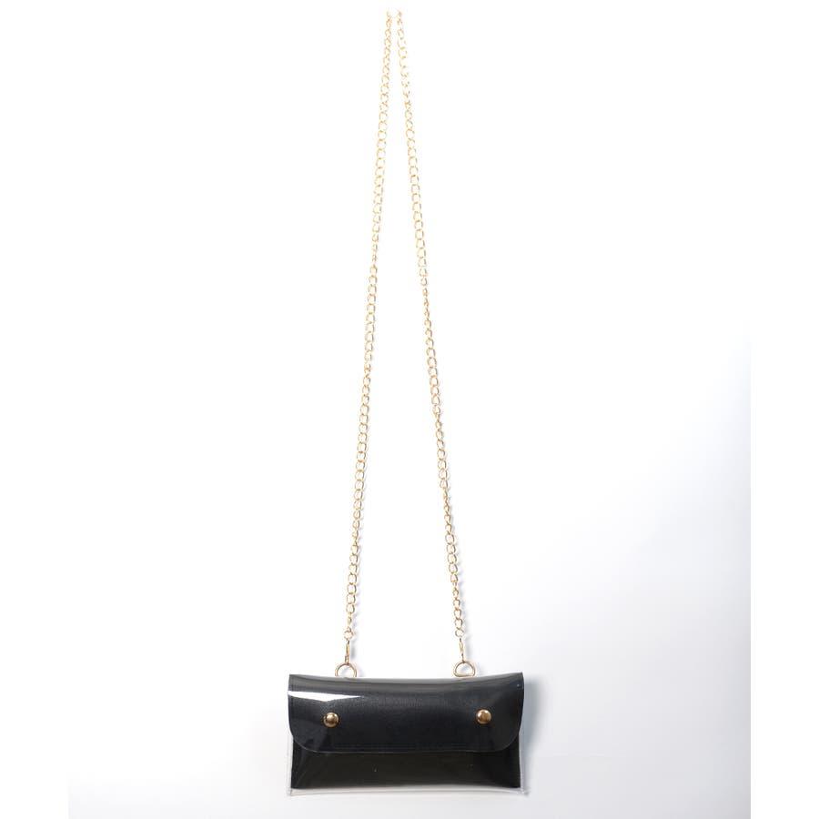 秋新作 2wayPVCウエストポーチ バッグ 鞄 PVC クリア ウエストポーチ サコッシュ チェーン ショルダー コンパクトミニ韓国ファッション レディース 2