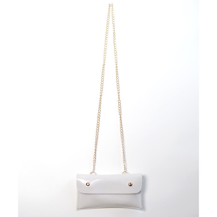 秋新作 2wayPVCウエストポーチ バッグ 鞄 PVC クリア ウエストポーチ サコッシュ チェーン ショルダー コンパクトミニ韓国ファッション レディース 4