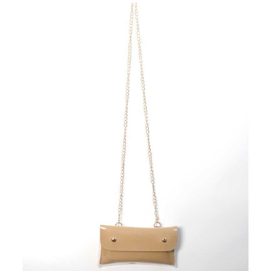 秋新作 2wayPVCウエストポーチ バッグ 鞄 PVC クリア ウエストポーチ サコッシュ チェーン ショルダー コンパクトミニ韓国ファッション レディース 7