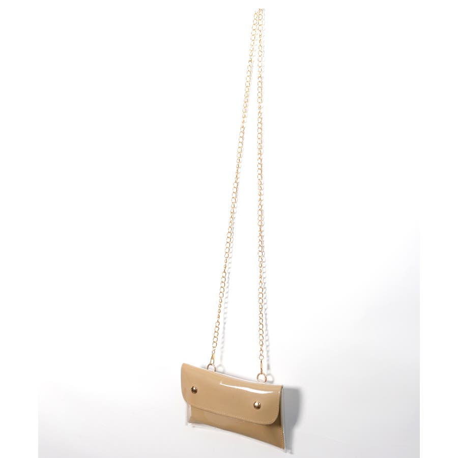 秋新作 2wayPVCウエストポーチ バッグ 鞄 PVC クリア ウエストポーチ サコッシュ チェーン ショルダー コンパクトミニ韓国ファッション レディース 8