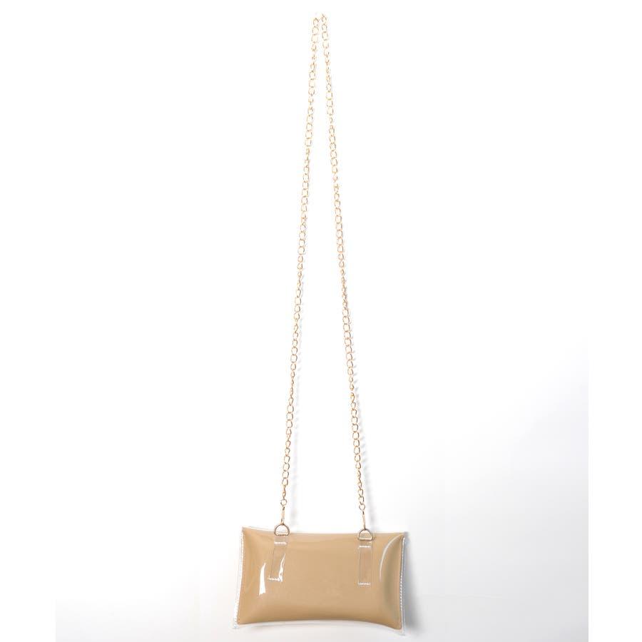 秋新作 2wayPVCウエストポーチ バッグ 鞄 PVC クリア ウエストポーチ サコッシュ チェーン ショルダー コンパクトミニ韓国ファッション レディース 9