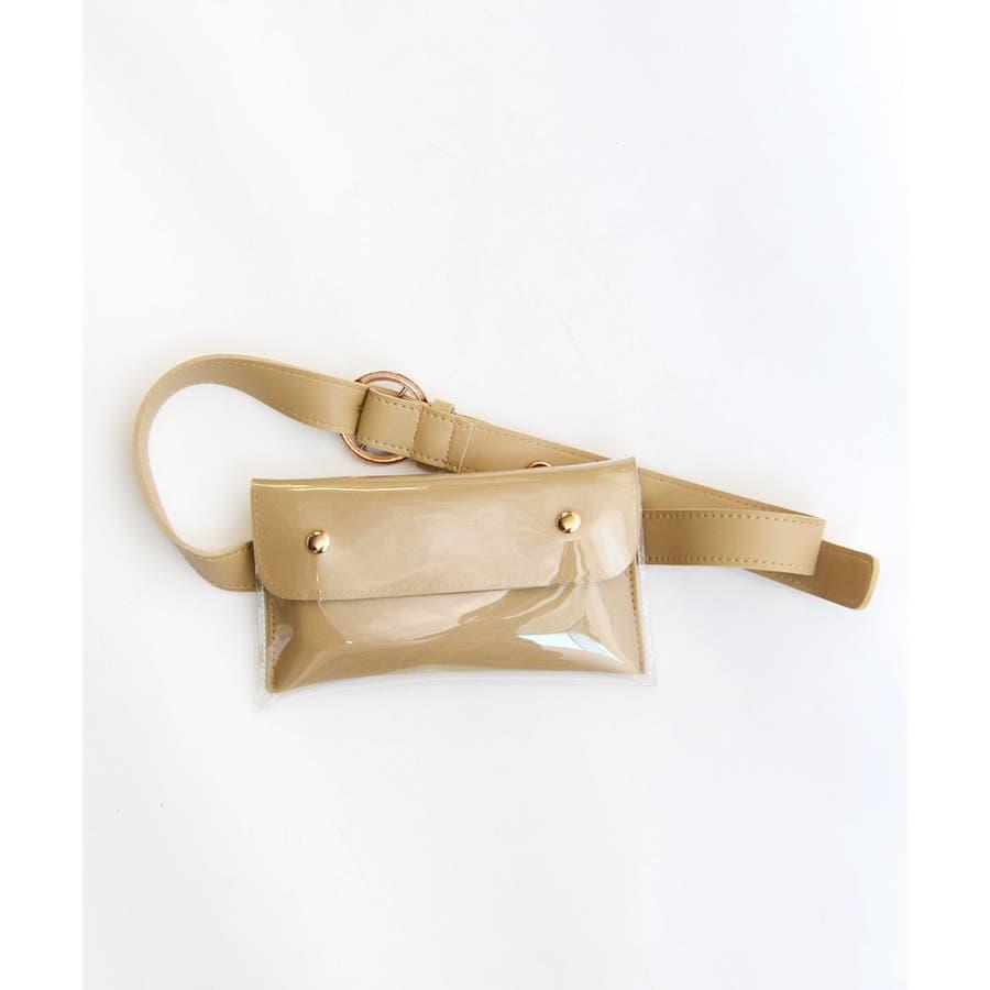 秋新作 2wayPVCウエストポーチ バッグ 鞄 PVC クリア ウエストポーチ サコッシュ チェーン ショルダー コンパクトミニ韓国ファッション レディース 10