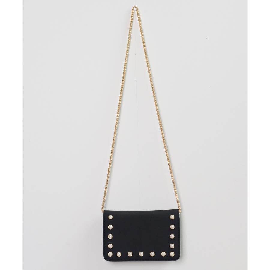秋新作 パールショルダーバッグ 鞄 バッグ ショルダー チェーン パール 上品 カジュアル シンプル コンパクト 韓国ファッションレディース 2