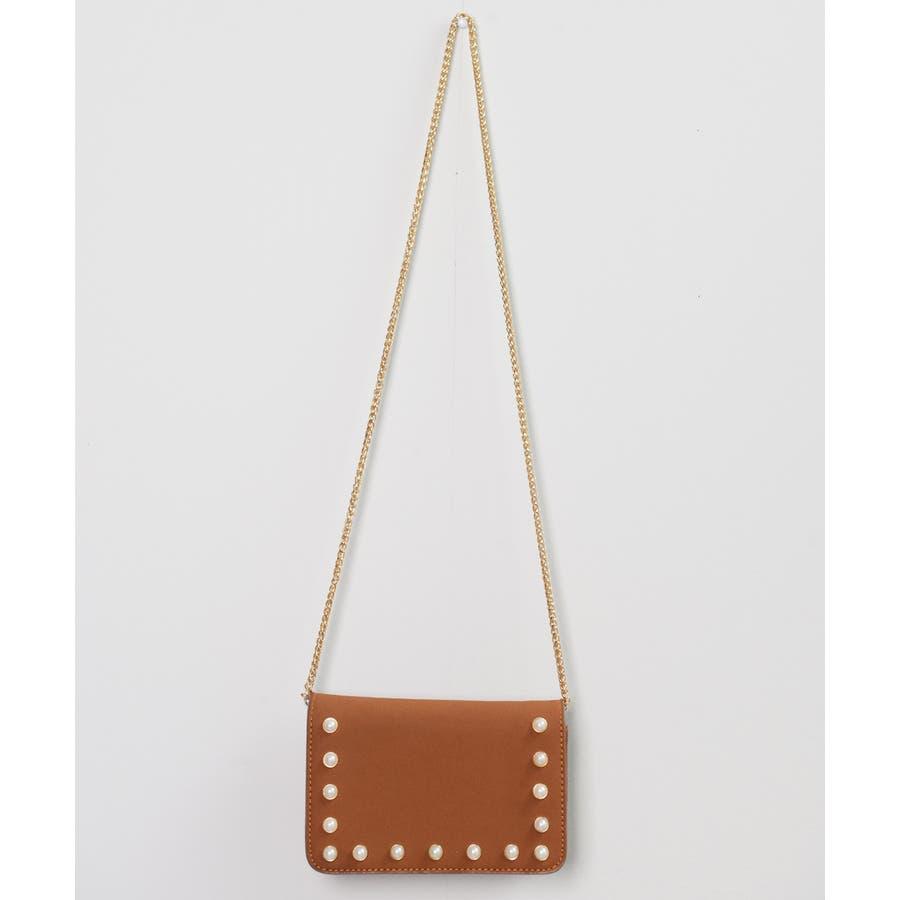 秋新作 パールショルダーバッグ 鞄 バッグ ショルダー チェーン パール 上品 カジュアル シンプル コンパクト 韓国ファッションレディース 3